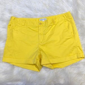 Banana Republic Yellow Cuffed Shorts 14